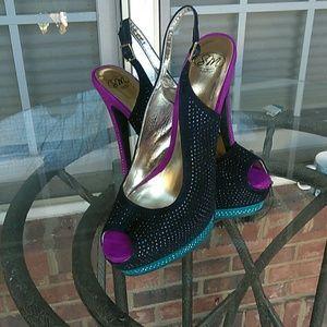 S W New York platform stiletto heel